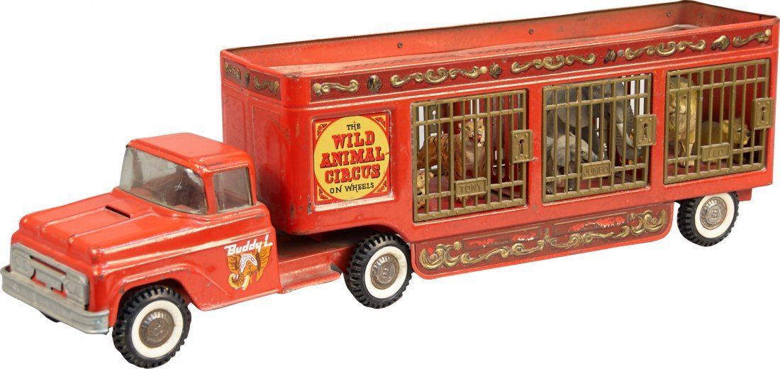 "Vintage Buddy 'L' ""Wild Animal Circus Truck & Trailer"