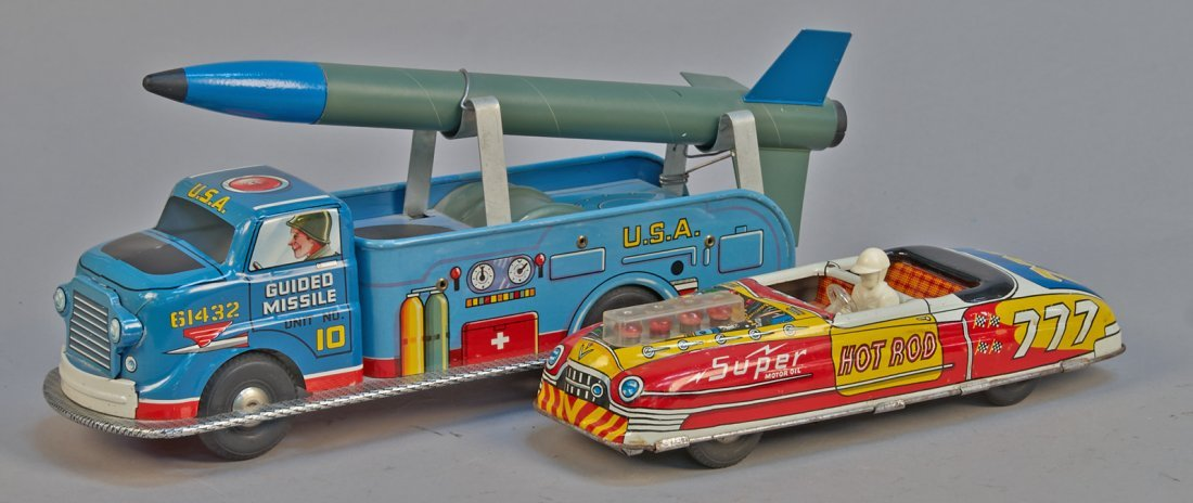 Lot of 2 - Vintage Louis Marx, Made In USA Tin Toys: