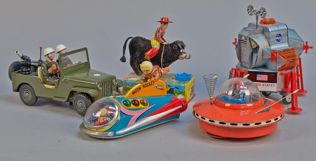 Lot of 5 - Vintage Misc. Made in Japan Tin Toys: