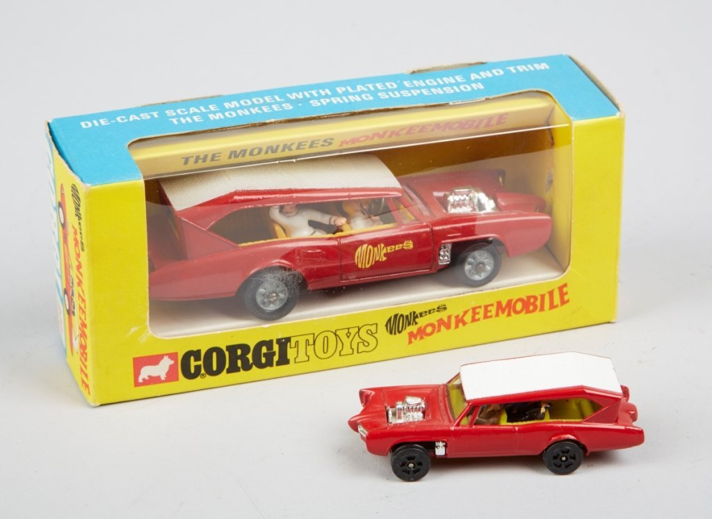 "Lot Of 2 - Vintage Corgi ""Monkeemobile"" Toy Cars:"