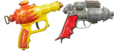 Lot of 2 - Vintage Buck Rogers Toy Guns: