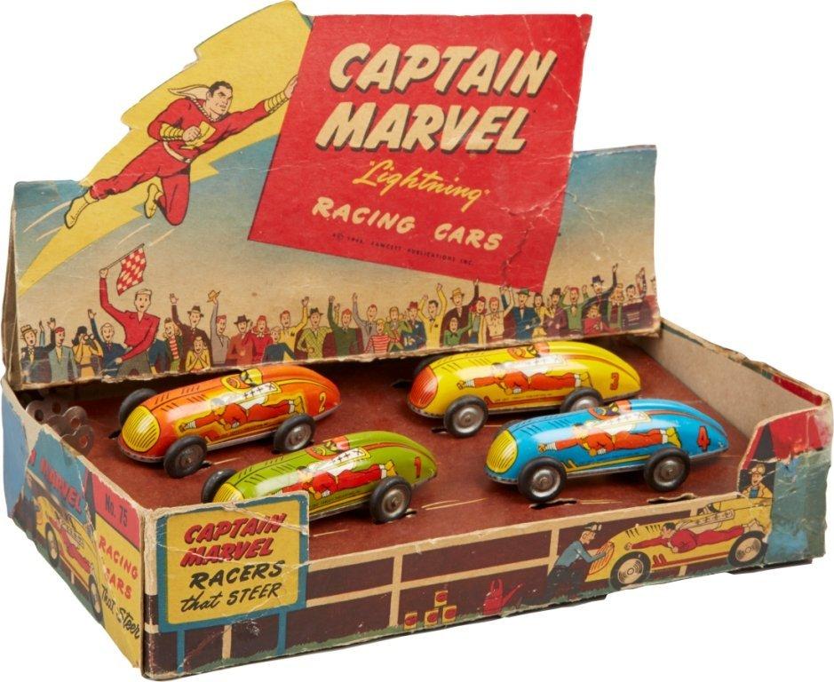 Lot Of 4 - Captain Marvel Lightning Racing Cars,