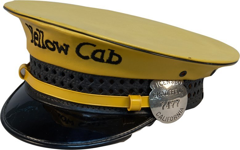 Lancaster Brand Yellow Cab Taxi Driver Hat