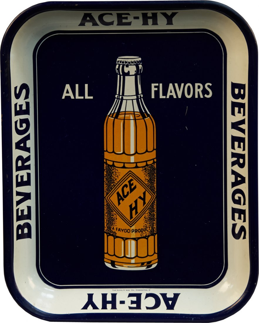 Ace-Hy Beverages Tin Serving Tray By The Novelty Adv. C