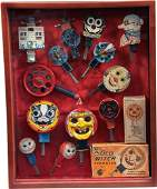 13 Vintage Mechanical Holiday Sparklers in Shadow Box