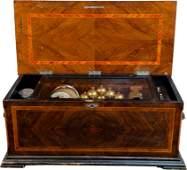 Henry Gautschi & Sons Cylinder Wooden Music Box