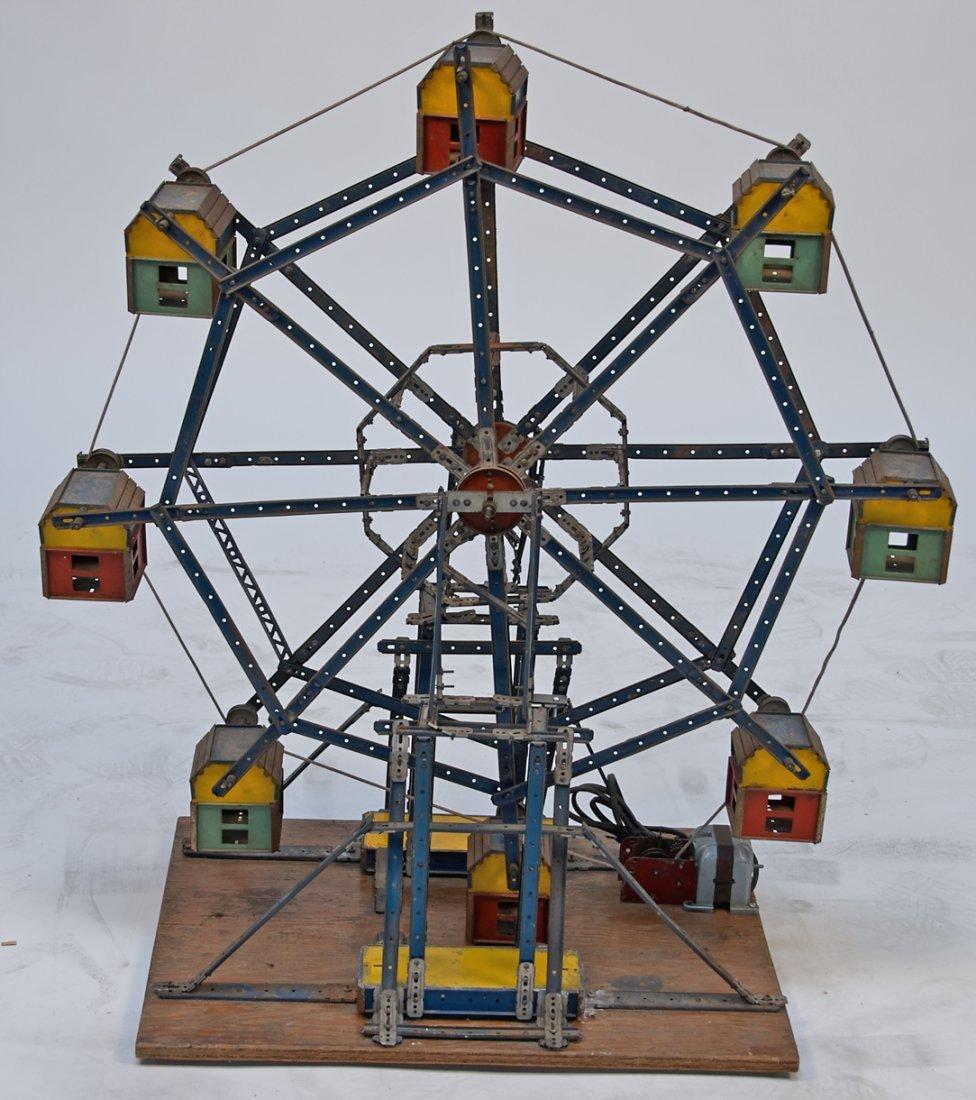 Erector Set Folk Art Ferris Wheel Display 1930's