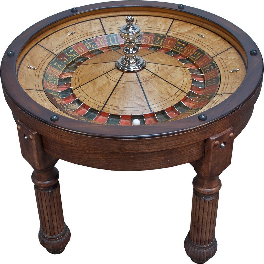 Evans & Co Antique Roulette Wheel Coffee Table