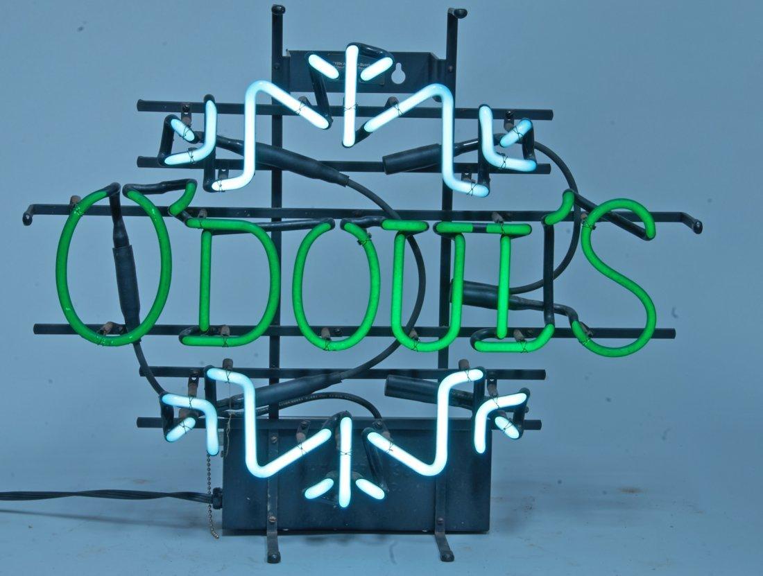 O'Doul's Beer Snowflake Neon Bar Sign