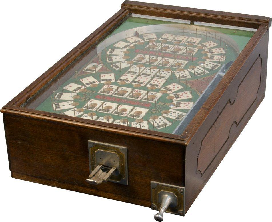 "5 Cent ""Play-Boy"" Tabletop Pre-Flipper Pinball Game"