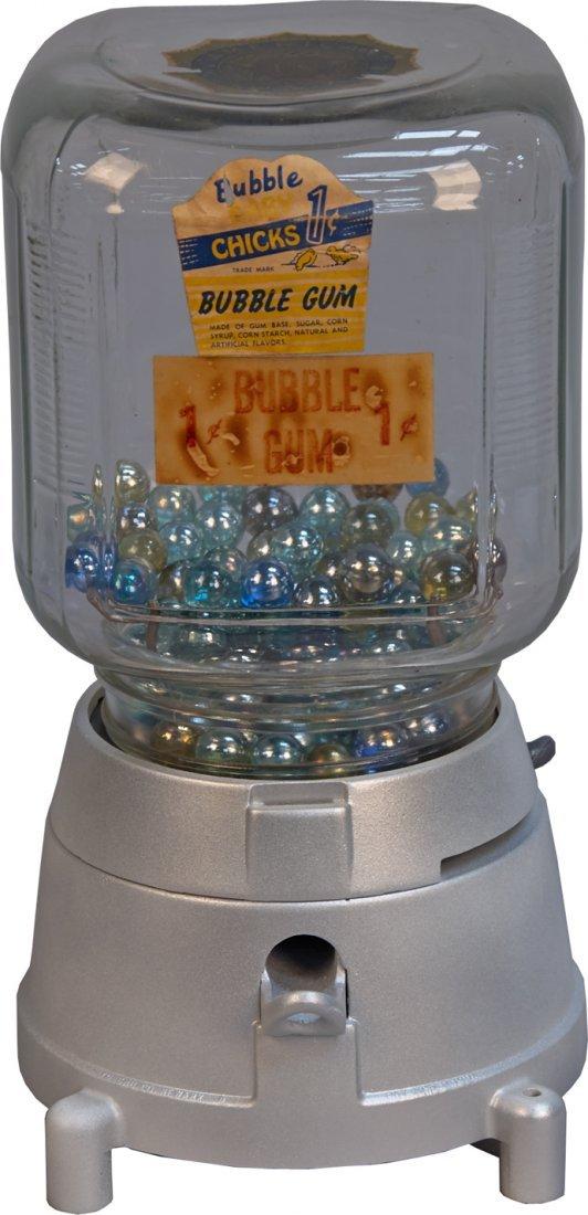 1 Cent Yu-Chu Co. Countertop Gumball Vending Machine w/