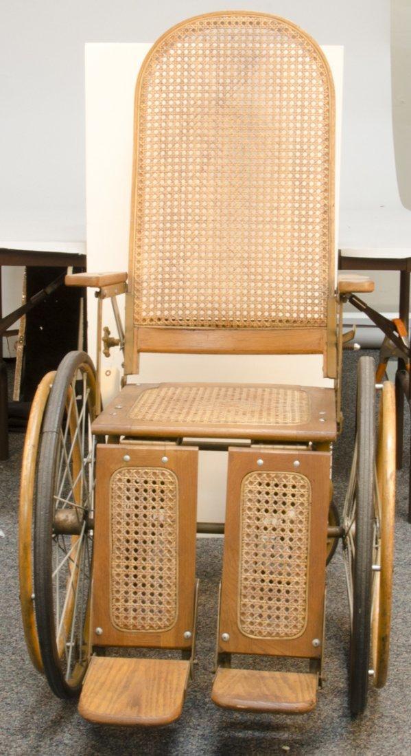 Antique Gendron Wheel Co. Wooden Wheelchair