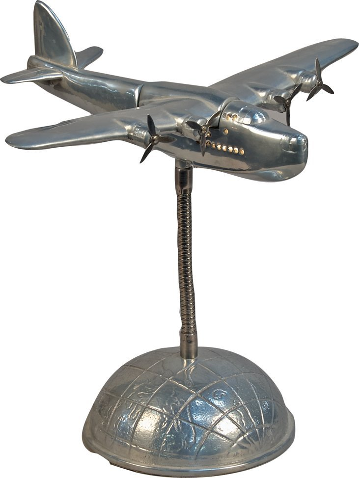 Plane Desktop Metal Electric Lamp
