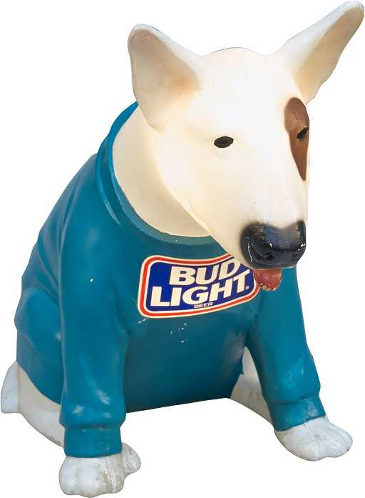 Bud light beer spuds mackenzie dog light up countertop mozeypictures Choice Image