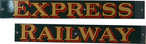 Lot of 2 - Porcelain Signs:
