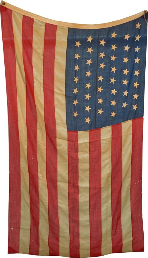 Early 45-Star United States Of America National Flag
