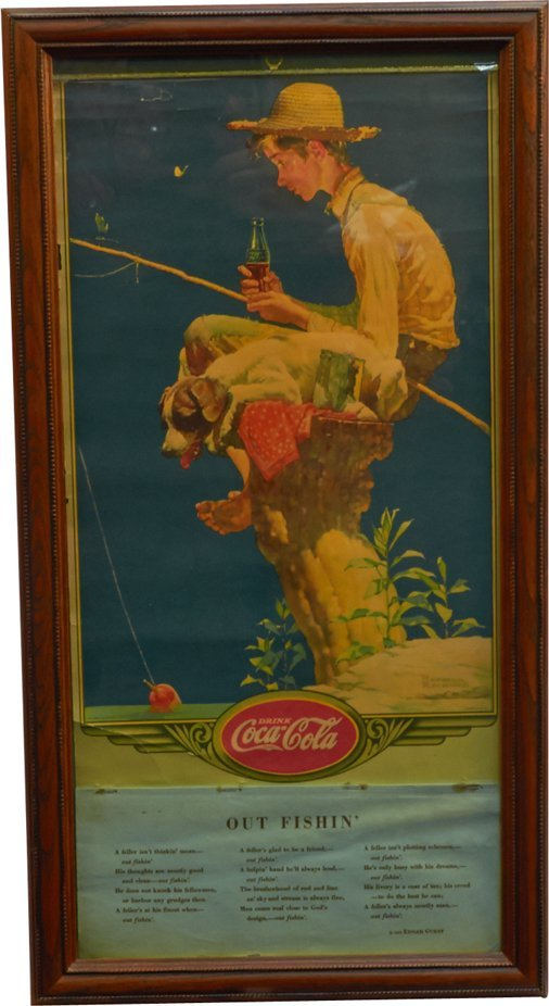 Drink Coca-Cola Norman Rockwell 1935 Litho. Calendar