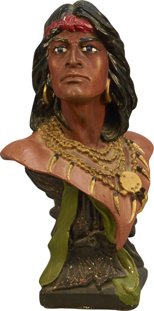 "Indian ""Hawata"" Tabletop Bust Statue"