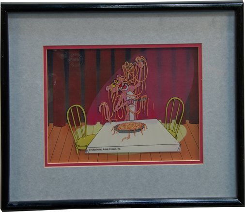 "Pink Panther ""Pink Spaghetti"" Limited Edition Fine Art"