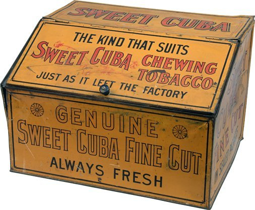 Sweet Cuba Chewing Tobacco Tin Countertop Store Display