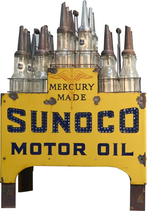 Sunoco Motor Oil Light-Up Store Display Stand