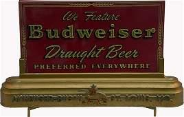 Budweiser Beer Light-Up Reverse On Glass Sign