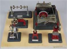 Miniature 6-Piece Steam Engine Factory Model Display La