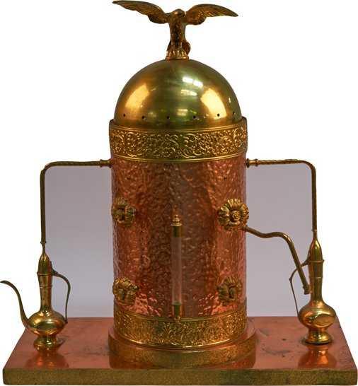 Large Antique Copper Brass Espresso Cappuccino Machin