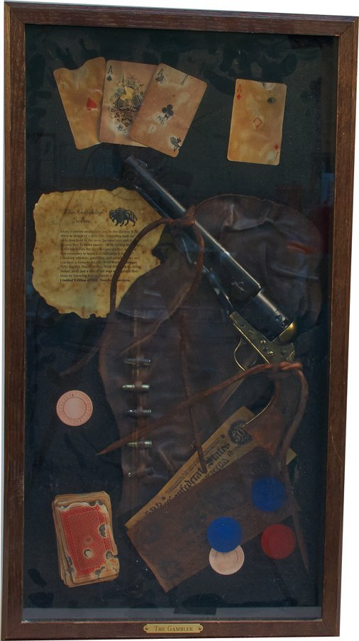 """""""The Gambler"""" Wild West Display in Box Frame"""