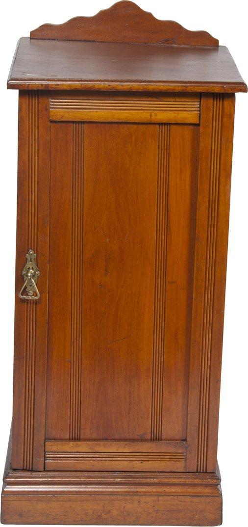Cherry Finish Wood Slot Machine Stand/Cabinet