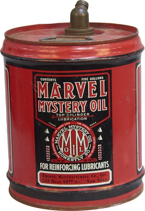 Vintage Marvel Mystery Oil 5-Gallons Metal Can