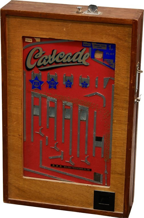 "1 Pence British ""Cascade"" Wall Mount Penny Drop"