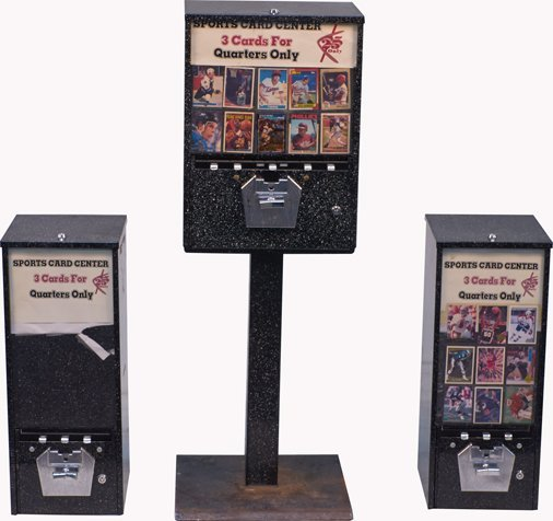 Lot of 3 25-Cent Sports Card Vending Machines: