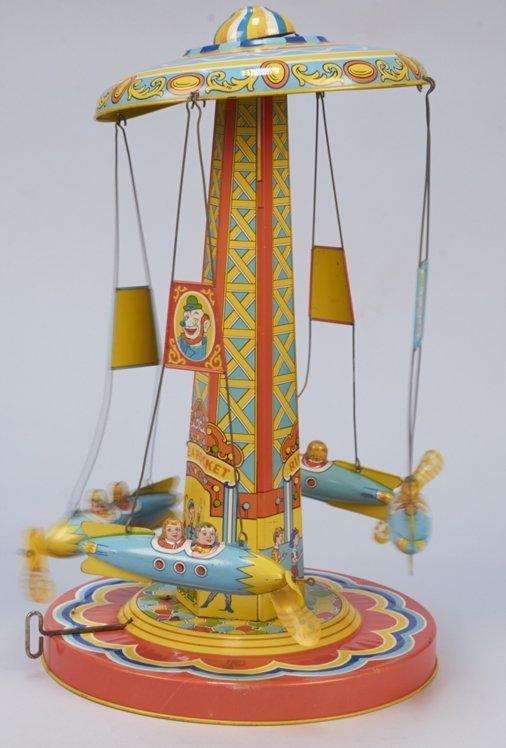 "Vintage J. Chein Litho. Tin ""Ride-A-Rocket"" c1930's"