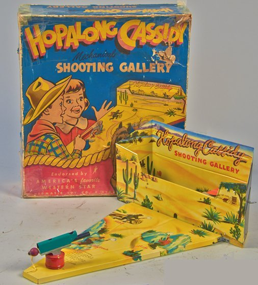 """Vintage """"Hopalong Cassidy Mechanical Shooting Gallery"""""""