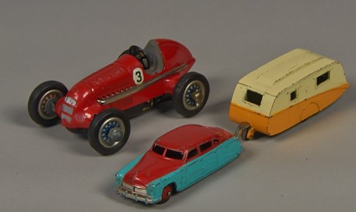 Lot of 3 - Vintage Foreign Made Tin Toys: