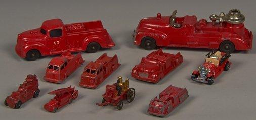 Lot of 10 - Vintage Misc. Aluminum & Die-Cast Toy Firet