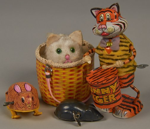 Lot of 4 - Vintage Misc. Made In Japan, Wind-Up Toys