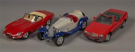 Lot of 3 - Die-Cast 1/18th Scale Model Toy Cars: