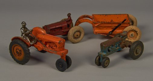 Lot of 3 - Vintage Arcade Cast-Iron Allis-Chalmers Trac