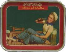 Drink CocaCola Sailor Girl Tin Serving Tray