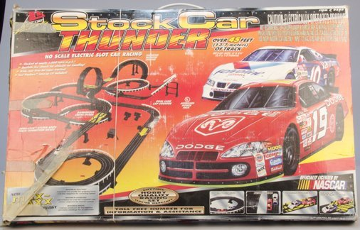 """Stock Car Thunder"" Ho Scale Electric Slot Car Racing"