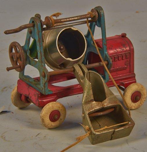 "Vintage Kenton Toys Cast-Iron ""Jaeger"" Cement Mixer"