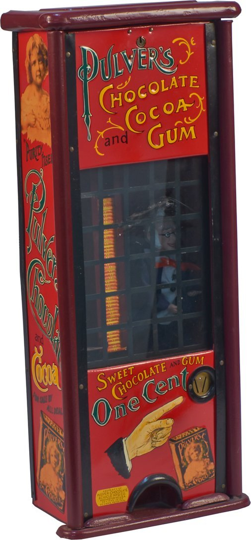 1 Cent Pulver Chocolate And Chicle Vending Machine c190
