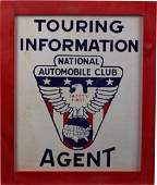 National Automobile Club Touring Information Agent Sign
