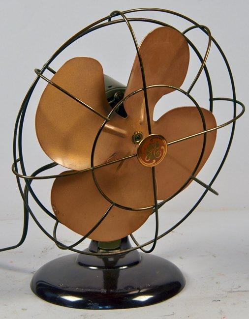 Vintage General Electric Oscillating Desktop Fan