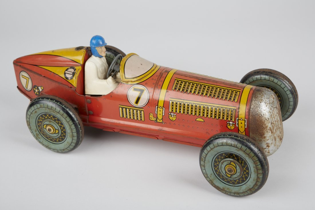 Mettoy, No. 7 Litho. Tin Toy Race Car c1940's,