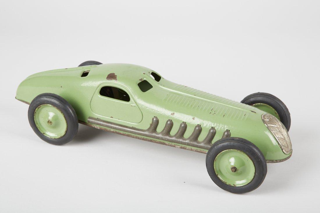 JEP Art Nouveau Heavy Tin-Plate Open-Wheel Toy Race