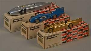 Lot of 3 - Western Models Die-Cast Toy Model Race Cars,
