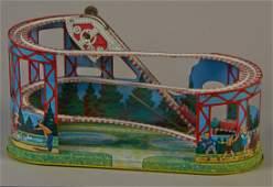Vintage J Chein  Co Tin Litho Roller Coaster Toy